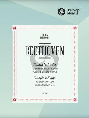 Beethoven Samtliche Lieder Tiefe Stimme und Klavier (Tiefe Stimme) (Breitkopf)