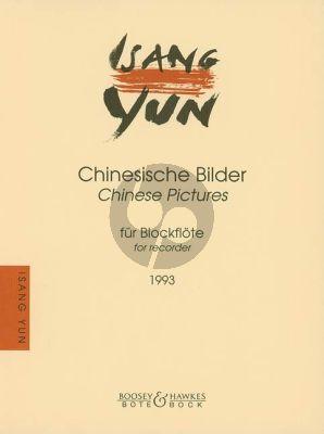 Yun 4 Chinesische Bilder (1993) Recorder (or Flute) solo)