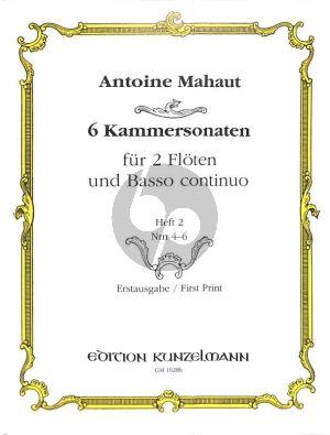 Mahaut 6 Kammersonaten Vol. 2 No. 4 - 6 2 Flöten und Bc