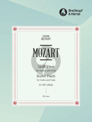 Mozart 12 Duette KV 487 (496a) Violine und Viola