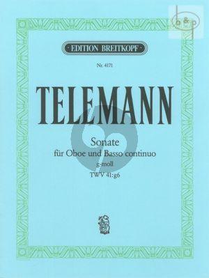 Telemann Sonate g-moll TWV 41:g6 Oboe und Bc (Max Seiffert)