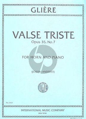Gliere Valse Triste Op.35 No.7 (Anderer) (Horn F)