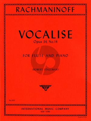 Rachmaninoff Vocalise Op.34 No.14 Flute-Piano (Stallman)