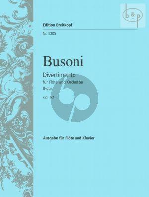 Busoni Divertimento B-dur Op.52 (BV.285) Flöte-Klavier