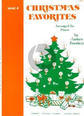 Bastien Christmas Favorites Level 4 Piano