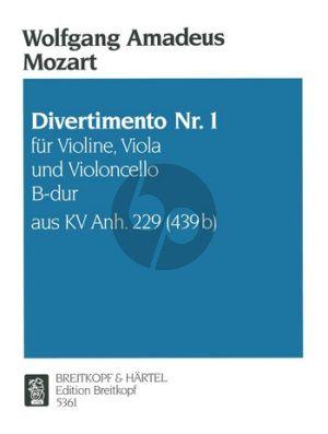 Mozart Divertimento No.1 B-flat major KV Anh.229 Vi.-Va.-Vc.)