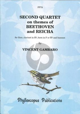 Gambaro Quartet No.2 on themes of Beethoven and Reicha Flute- Clar.[Bb]-Horn[F/Bb]-Bassoon (Score/Parts) (Nex)