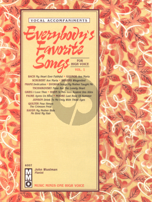 Everybody's Favorite Songs Vol.1 High Voice (Bk-Cd) (MMO) (Pianist John Wustman)