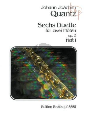 Quantz 6 Duette Op.2 Vol.1 2 Flöten (Stimmen) (Gerhard Braun)