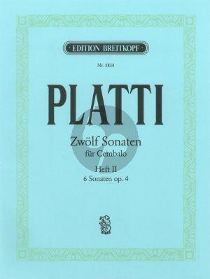 Platti 12 Sonatas Vol.2 (No.7-12) Cembalo