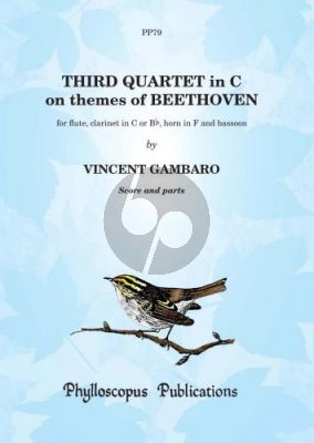 Gambaro Quartet No.3 on themes of Beethoven Flute- Clar.[C/Bb]-Horn[F]-Bassoon (Score/Parts) (Nex)