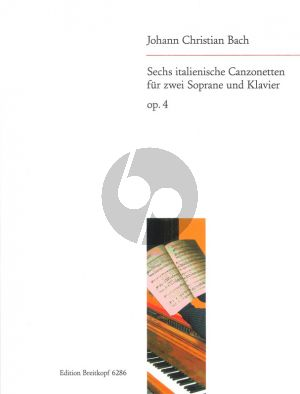 6 Italienische Canzonen Op.4 2 Sopranstimmen-Klavier