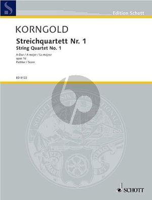 Korngold Quartet No.1 A-major Op.16 2 Vi.-Va.-Vc. (Parts)