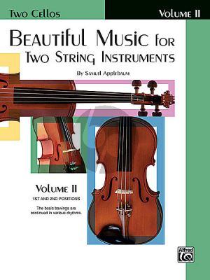 Applebaum Beautiful Music for 2 String Instruments Vol.2 2 Cello's