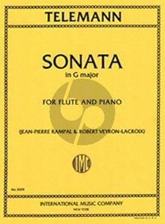 Telemann Sonata G-major Flute-Piano (Rampal-Veyron-Lacroix)