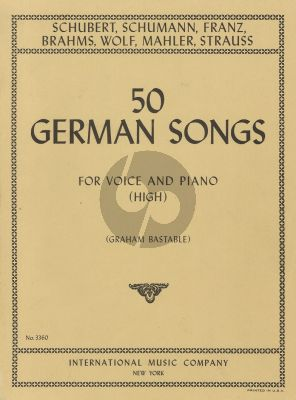 50 German Songs high Voice-Piano