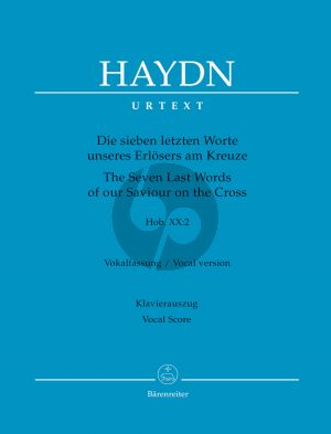 Haydn Die Sieben Letzten Worte unseres Erlosers am Kreuze Hob.XX:2 Soli-Choir-Orch. Vocal Score (germ.) (Hubert Unverricht)