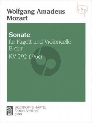 Sonate B-dur KV 292