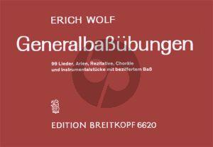 Wolf Generalbassübungen (99 Lieder, Arien, Rezitative, Choräle und Instrumentalstücke mit beziffertem Bass)