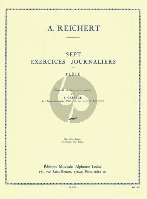 Reichert 7 Exercises Journaliers Op.5 Flute (Caratgé)