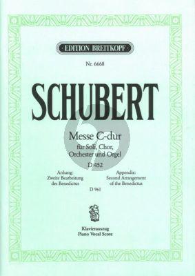 Schubert Messe in C dur D 452 Op. 48 mit einem zweiten Benedictus D 961 Solos-SATB-Orch Klavierauszug von Ulrich Haverkampf