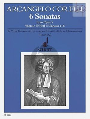 6 Sonatas from Op.5 Vol.2 Treble Recorder-Bc