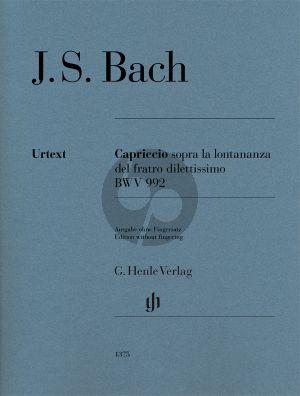 Bach Capriccio sopra la lontananza del fratro dilettisimo BWV 992 Klavier (ohne Fingersatz) (ed. Georg von Dadelsen) (Henle-Urtext)