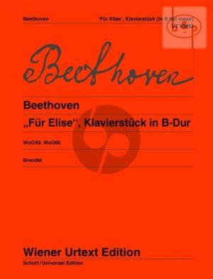 Fur Elise (Klavierstuck B-dur) (WoO 59 - 60)