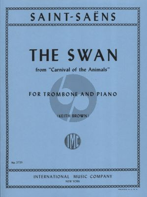 Saint Saens The Swan Trombone and Piano (Edited by Keith Brown)