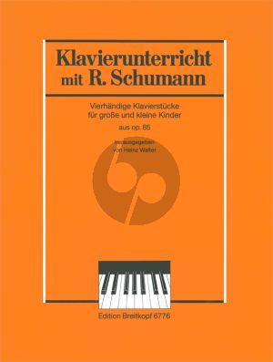 Klavierunterricht mit Robert Schumann Klavierstücke aus Op.85 Klavier 4 Hd (Heinz Walter)
