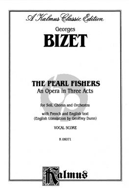 Bizet The Pearl Fishers Vocal Score (French/English)