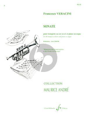 Veracini Sonate Trompette ou Cor-Piano[Orgue] Thilde (Collection Andre)