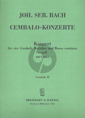 Bach Concerto a-moll BWV 1065 4 Cembali-Str.-Bc Cembalo 2 Stimme