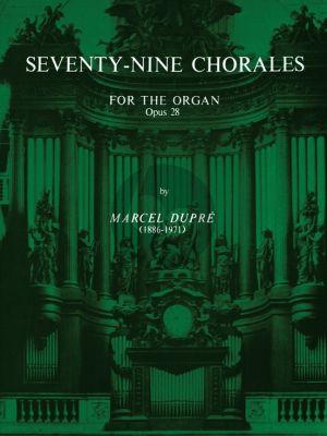 Dupre 79 Chorales Opus 28 for Organ