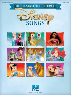 The Illustrated Treasury of Disney Songs (Piano-Vocal-Guitar) (7th. edition)