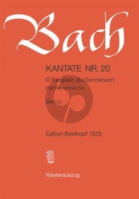 Bach Kantate No.20 BWV 20 - O Ewigkeit, du Donnerwort (Deutsch/Franzosisch) (KA)