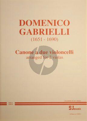 Gabrielli Canon a due Violoncelli for 2 Violas (arr.)