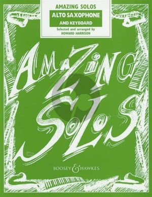 Album Amazing Solos for Alto Saxophone and Piano (arr. Howard Harrison)