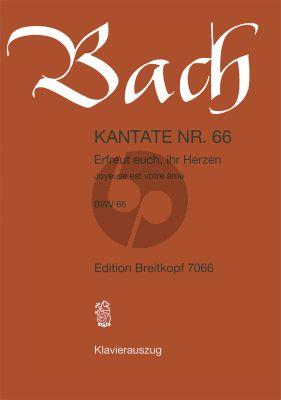 Bach Kantate BWV 66 - Erfreuet euch, ihr Herzen KA (dt./engl.)