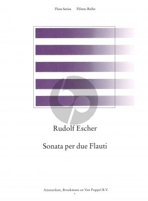 Escher Sonata per due Flauti (edited by Rien de Reede) (Grade 3-4)