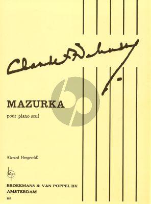 Debussy Mazurka Piano solo (Hengeveld)