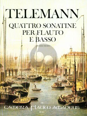 Telemann 4 Sonatinen TWV 41:D7 Flote[Violine/Oboe] und Bc (Continuo Aussetzung Winfried Michel)