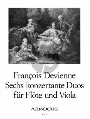 Devienne 6 konzertante Duos Op. 5 Flöte und Viola (Stimmen) (Bernhard Pauler)
