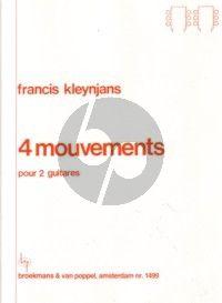 Kleynjans 4 Mouvements Op.53 pour 2 Guitares