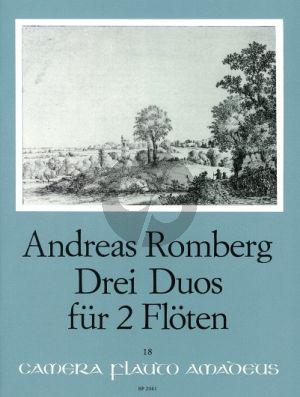 Romberg 3 Duos Op. 62 2 Flöten (Partitur mit 1 Stimme) (Bernhard Pauler)