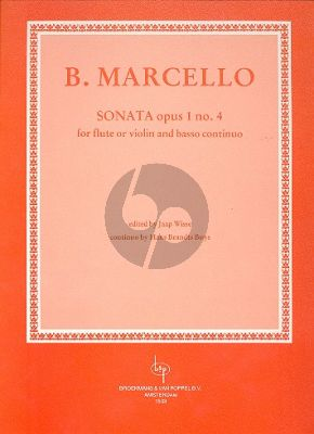 Marcello Sonata Op.1 No.4 Flute (or Violin) and Piano (Jaap Wisse / Hans Brandts Buys)