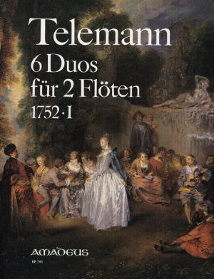 Telemann 6 Duos 1752 -I TWV 40:130 - 135 fur 2 Floten (heruasgegeben von Peter Reidemeister)