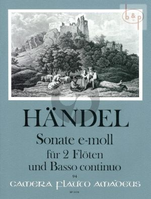 Triosonate e-moll HWV 395 2 Flutes and Bc
