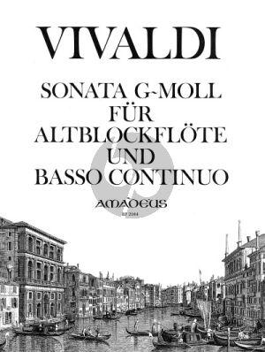 Vivaldi Sonata g-minor RV 50 Altblockflöte-Bc (Grete Zahn)