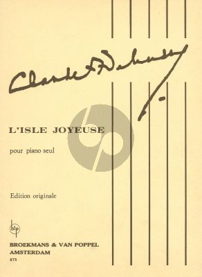 Debussy L'Isle Joyeuse Piano (Original Edition)